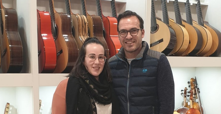 Prudencio Saez. Luthier nos visita en nuestra tienda